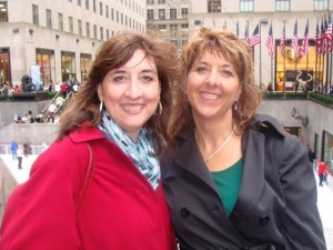 Barb & Mary, Rockefeller Center, Nov 09
